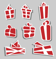 Gift box sticker set vector image vector image
