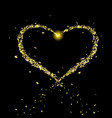 golden heart flying particles vector image vector image