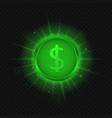 green dollar symbol vector image vector image