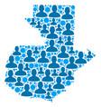 guatemala map population people vector image
