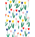 hand drawn tulip seamless pattern for background vector image vector image