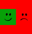 happy and unhappy smileys vector image vector image