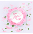 happy mother s day card with roses vector image