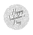 Happy Valentines Day card Original vector image vector image