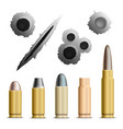 holes and bullets collection vector image vector image
