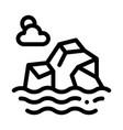 iceberg in sea icon outline vector image vector image