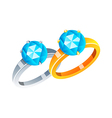 icon rings vector image vector image