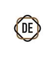 initial letter de elegance logo design template vector image vector image