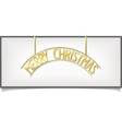 Isolated Christmas design lettering on billboard vector image vector image