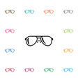 isolated eye accessory icon eye-wear vector image vector image