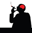 man with cigar vector image vector image