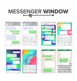 mobile ui kit messenger set chat app vector image