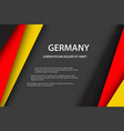 modern background with german colors vector image vector image
