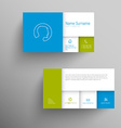 Modern blue green business card template vector image vector image