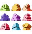 Multicolored alphabet symbols vector image vector image