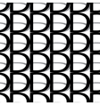 pattern letter d vector image vector image
