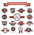 Premium quality labels and badges collection vector image vector image