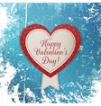 Realistic Happy Valentines Day Heart Emblem vector image vector image