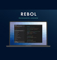 rebol programming language vector image vector image