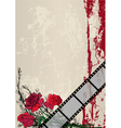 roses and film strip vector image