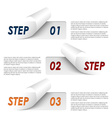 Set of colorful sample steps stickers template vector image vector image