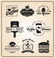 Set of food and drink badges logo vector image vector image