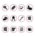 set of icons for the auction vector image