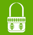 shoulder bag icon green vector image vector image