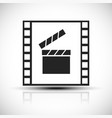 simple concept graphic for movie movie production vector image vector image