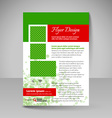 Site layout for design - flyer vector image vector image