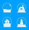 snow globe ball christmas icons set simple style vector image vector image
