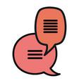 speech bubbles messages icons vector image