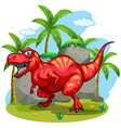 T-Rex standing on grass vector image