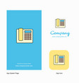 telephone company logo app icon and splash page vector image vector image