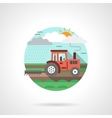 Tractor detailed flat color icon vector image vector image