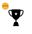 trophy cup icon isolated flat style vector image vector image