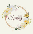 watercolor hand drawn colorful spring flower vector image