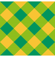 Yellow Green Diamond Chessboard Background vector image vector image