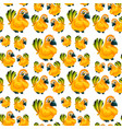 yellow parrot seamless pattern vector image