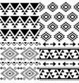 aztec pattern set tribal background vector image