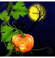Halloween and cat vector image
