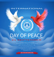 international day of peace 21 september vector image