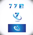 Number seven 7 logo icon set vector image