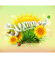 Summer time for a vacation and travel the sun and vector image