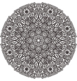 Black mandala for coloring Isolated element vector image