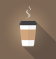 paper cup of coffee flat design vector image