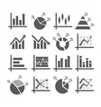 Diagram and graphs icons vector image
