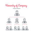 hierarchy of company teamwork team tree vector image