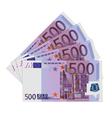 500 Euro bills vector image