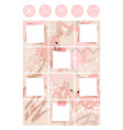 a modern muted pink palette for ladies puzzle vector image